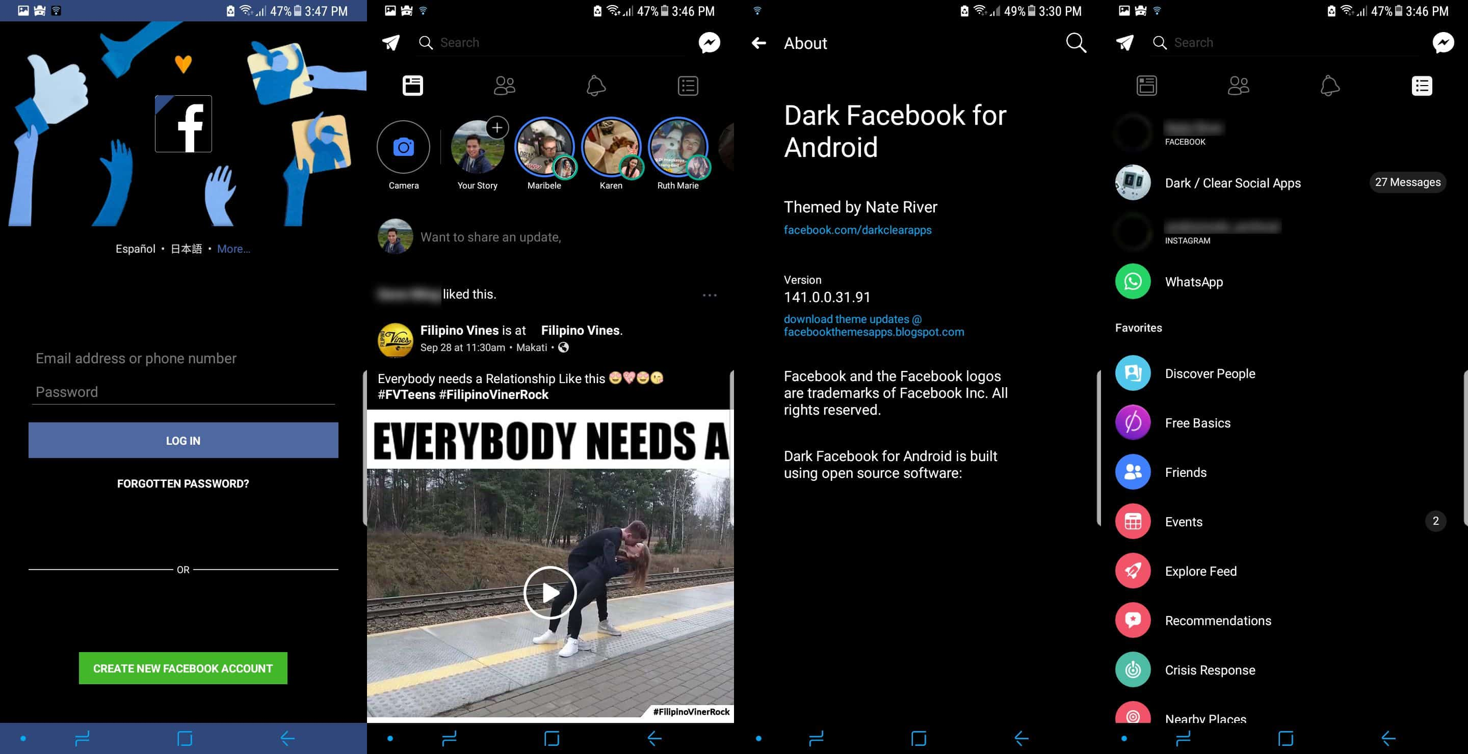 Dark-Facebook-APK