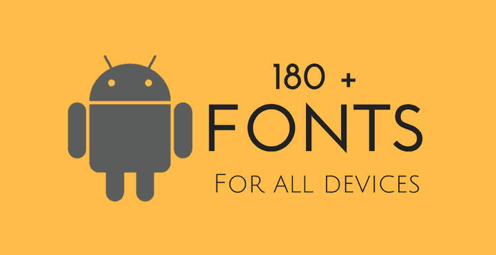 Fonts xda android apps