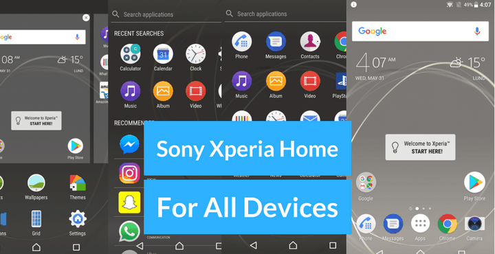Download Sony Xperia Home Launcher APK for All Devices