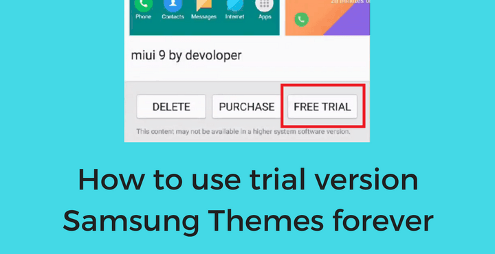 Convert Trial Version Samsung Themes to Full Version [No Root]