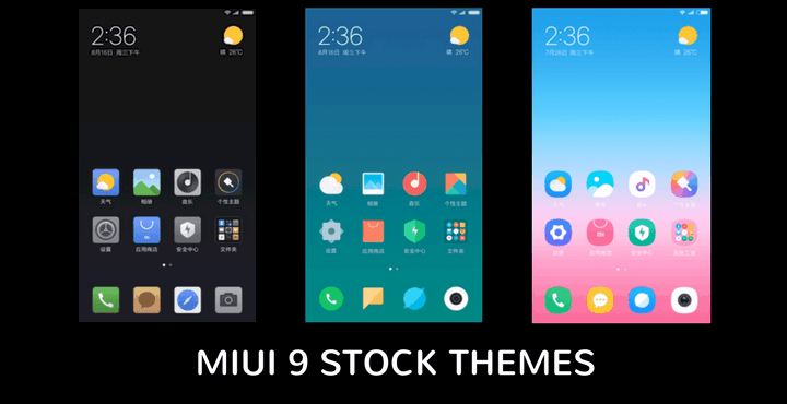 Download MIUI 9 Stock Themes for All MIUI 8 Devices