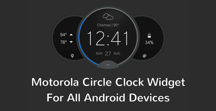 Download Motorola Circle Clock Widget APK for All Devices