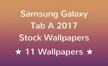 Samsung Galaxy Tab A 2017 Stock Wallpapers