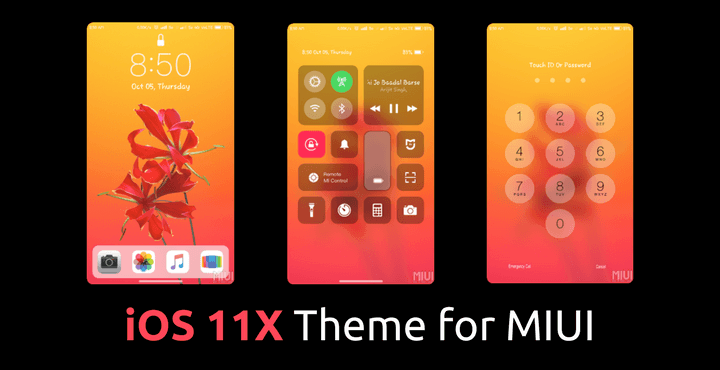 Download Ios 11 X Theme For Miui 9 Miui 8 And Other – Dibujos Para